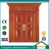 Usine en bois solide de double porte