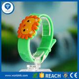 Wristband elegante impermeable del silicón RFID de 13.56MHz MIFARE 1k