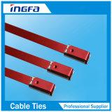 O envoltório da exaustão do aço inoxidável revestiu o travamento de laços do fecho de correr do cabo 4.6X350mm