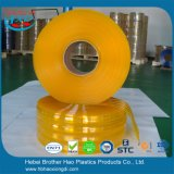 Industrielles Anti-Insekt Gelb-Doppeltes versah die 3mm Stärken-Plastik-Belüftung-Streifen-Vorhang mit Rippen