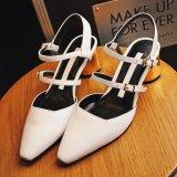 Chaussures en cuir de santal de talon haut de dames de stylet de la plate-forme des femmes
