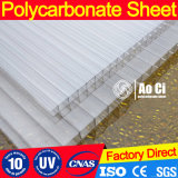 hoja transparente del policarbonato de 8m m con el invernadero ULTRAVIOLETA de la protección