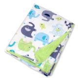 Suave felpa corta Sherpa mantas polar del bebé personalizado para Wrap