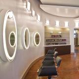 Personnaliser les miroirs de mur de Frameless allumés par DEL biseautés par vanité d'hôtel de taille