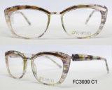 Frame ótico do acetato da boa qualidade para a senhora com metal (Ce) Eyewear