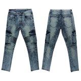 Pantalones vaqueros que se lavan de la nieve de los hombres de la alta calidad (MYX16)