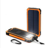 Côté solaire campant d'énergie solaire du chargeur 15000mAh avec la lampe-torche intense USB duel