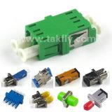 DIN/Mu/MTRJ/E2000/Sc/LC/FC/Stのシンプレックスかデュプレックスまたはクォードの光ファイバアダプター