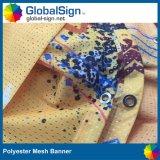 Drapeau graphique de frontière de sécurité de vent de polyester estampé par constructeur de la Chine