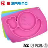 Plaque de table en silicone silicone multicolore pour alimentation
