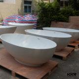 Ушат ванны круглой ванны камня смолаы Kkr свободно стоящий овальный
