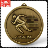 Medalla de metal chapado en oro de maratón personalizado