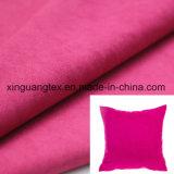 Tessuto di trama della pelle scamosciata del poliestere per l'indumento/pattini/sofà/cuscino/tessile/sacchetti domestici