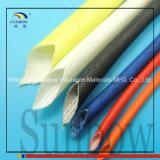 Sunbow 2,5kV acrílico de cristal revestida de fibra manguitos 6 mm Bore Yellow