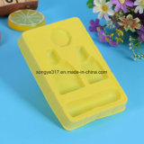 Yellow Flocking Cosmetics Blister Packaging Bandeja
