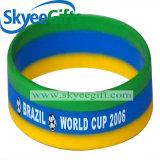 Bracelet large respectueux de l'environnement personnalisé de silicones