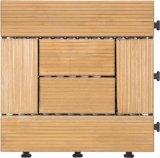 Pavimento di legno naturale smontabile delle mattonelle di pavimentazione di DIY