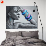 Moderのアフリカの女性の肖像画のホーム装飾の芸術の絵画