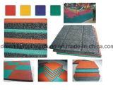 Esteras de goma de la seguridad al aire libre del patio y azulejos de goma para la venta