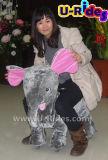 象の親および子供のための歩く動物の大きいサイズの乗車一緒に