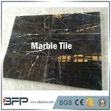 虚栄心の上のための卸売価格のBookmatchedの黒い大理石の平板