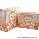 Bolsa de papel de regalo con exquisita la impresión de flores