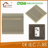 Gebildet elektrischen dem Schalter in des China-MetallEdelstahl-1gang