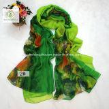 Colorare la signora stampata nebbiosa Fashion Silk Scarf Factory dello scialle di transizione