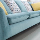 ホテルのベッド部屋の家具Fb1105のための高品質の印刷ファブリックカバーが付いている現代デザイン部門別のソファー