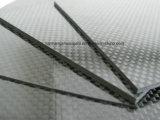 Resíduo metálico 100% do Twill da folha 3k do painel da placa da fibra do carbono