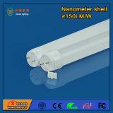 Tubo del alto brillo 130-160lm/W 18W T8 LED para las familias