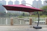 Mejor 10 pies cuadrado de aluminio Offset voladizo, paraguas colgado al aire libre con 360 grados de rotación y de inclinación vertical, poliéster 250 GSM resistente a los UV, Tan