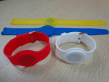 Bracelete RFID de borracha de silicone impermeável à moda