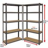 Rack de 5 níveis de prateleiras ajustáveis