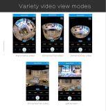 Vista de 360 grados vista panorámica de la cámara CCTV de inicio