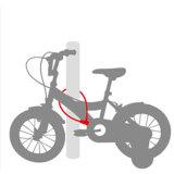 動物の文字意匠2の車輪の機密保護のキーケーブルロック