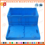 Foldable 플라스틱 크레이트 저장 그릇 야채 수송 회전율 상자 (Zhtb16)