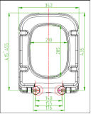 Quadratische Art-Toiletten-Kappe mit Weiche-Abschluss-Scharnier