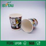 Taza de papel de la impresión en offset del café resistente al calor doble colorido hermoso de la pared