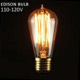 St58 E27 40W Heizfaden-Glühlampe-WeinleseRetro Edison-Lampe 110V-120V