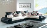 Gewebe-ledernes Sofa (F8029)