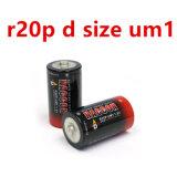 Batterie non rechargeable de zinc de carbone de taille de la batterie R20p D