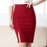 """Senhora elevada nova Contorno """"sexy"""" Contorno do escritório da saia do lápis da saia do trabalho da saia da cintura"""