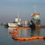 Asta di contenimento dell'olio del galleggiante del PVC, boom del petrolio, asta della gomma dell'alga