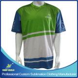 Sublimação completo de Design Personalizado Desportos de equipa camisolas de manga curta