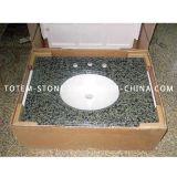 Скидка природного гранита камень ванные комнаты с раковиной Vanitytop на прилавок