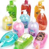Champú, ducha corporal, jabón de manos