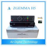 Receptor combinado da tevê de Zgemma H5 Digitas do receptor de DVB-S2 DVB-T2/C HD com sustentação de sistema de exploração Hevc do linux H. 265