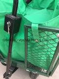 Stahlmaschendraht-Metallfaltende Garten-Schubkarre mit wasserdichtem Tuch