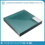 3mm temperada ondulação de vidro de malha de arame de padrão